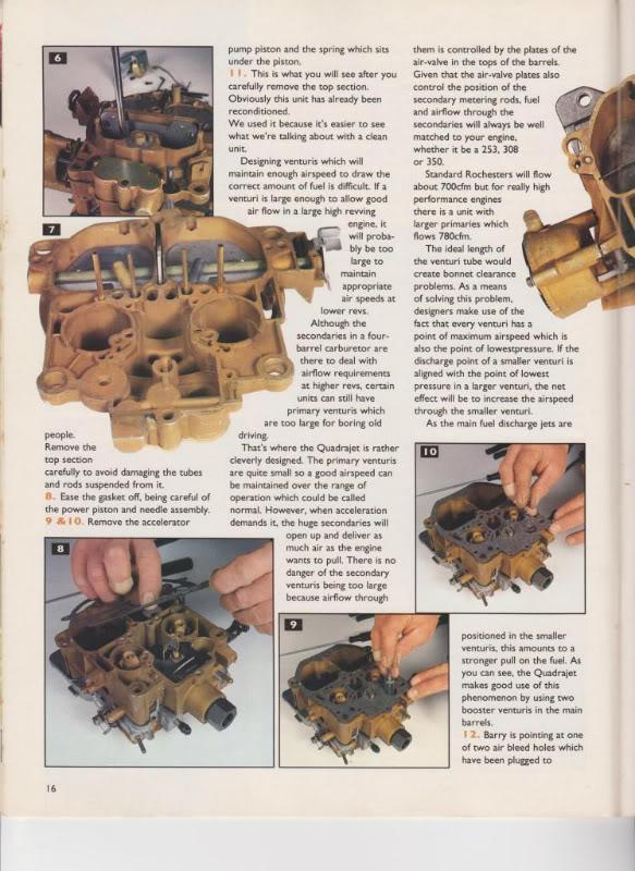 Rochester Rebuild - LH-LX-UC Tech Articles - GMH-Torana