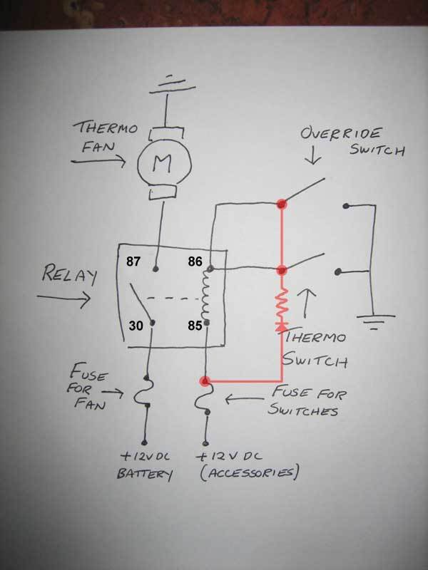 Wiring Diagram Thermo Fan : Thermo fan wiring electrical gmh torana