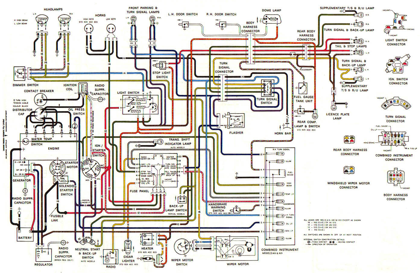 Hq Holden Wiring Diagram : Hq holden engine bay wiring diagram torzone org