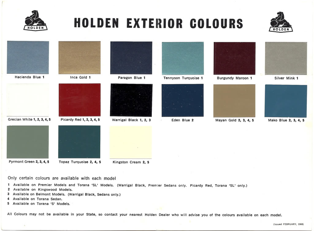 Where Is The Holden Paint Colour Codes